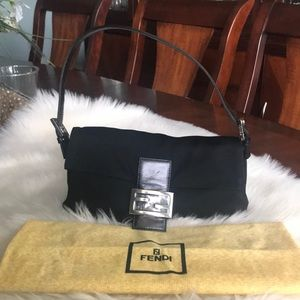 Fendi Black baguette handbag